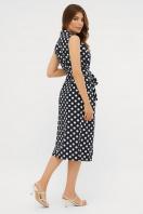 синее платье в белый горошек. платье Нарина б/р. Цвет: синий - белый горох в интернет-магазине