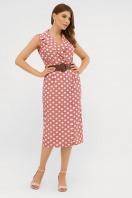 синее платье в белый горошек. платье Нарина б/р. Цвет: т.розовый-белый горох купить