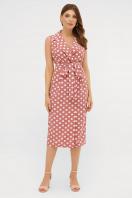 синее платье в белый горошек. платье Нарина б/р. Цвет: т.розовый-белый горох цена