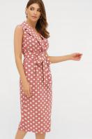 синее платье в белый горошек. платье Нарина б/р. Цвет: т.розовый-белый горох в интернет-магазине