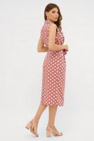 синее платье в белый горошек. платье Нарина б/р. Цвет: т.розовый-белый горох в Украине