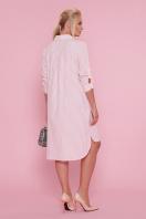 платье-рубашка больших размеров. платье Валентия-Б 3/4. Цвет: персик-полоска цена