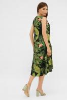. платье Тория б/р. Цвет: черный-Тропический лист в интернет-магазине