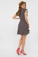 бежевое платье из штапеля. платье София 1 б/р. Цвет: черный-м. цветы в интернет-магазине