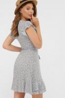 бордовое платье из штапеля. платье София 1 б/р. Цвет: голубой-м.цветы в интернет-магазине