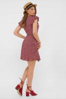 бордовое платье из штапеля. платье София 1 б/р. Цвет: бордо-м.цветы в интернет-магазине