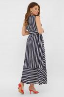 свободное длинное платье. платье Дасия б/р. Цвет: синий-белая полоса1 в интернет-магазине
