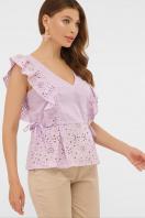 голубая летняя блузка. блуза Илари б/р. Цвет: лавандовый купить