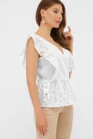 голубая летняя блузка. блуза Илари б/р. Цвет: белый купить