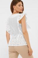 голубая летняя блузка. блуза Илари б/р. Цвет: белый цена