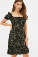 цветочное платье в деревенском стиле. платье Даная к/р. Цвет: черный-м. цветы цена
