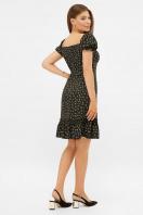 цветочное платье в деревенском стиле. платье Даная к/р. Цвет: черный-м. цветы в интернет-магазине
