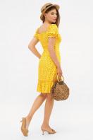 цветочное платье в деревенском стиле. платье Даная к/р. Цвет: желтый-м.цветы в интернет-магазине