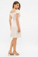 цветочное платье в деревенском стиле. платье Даная к/р. Цвет: белый-м.цветы в интернет-магазине
