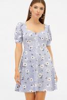 . платье Прасковья 1 к/р. Цвет: голубой-бел. ромашка купить
