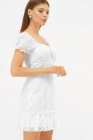 короткое белое платье. платье Даина к/р. Цвет: белый горох цена