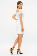 короткое белое платье. платье Даина к/р. Цвет: белый горох в интернет-магазине