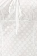 короткое белое платье. платье Даина к/р. Цвет: белый горох в Украине
