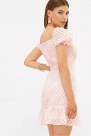 короткое белое платье. платье Даина к/р. Цвет: розовый горох в интернет-магазине