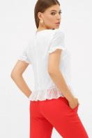 шифоновая белая блузка. блуза Диас к/р. Цвет: белый цена