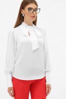 белая блузка с бантом. блуза Дарла д/р. Цвет: белый купить