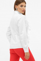 белая блузка с рюшами. блуза Мэнди д/р. Цвет: белый цена