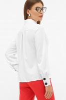 белая блузка с воротником стойка. блуза Фиби д/р. Цвет: белый цена