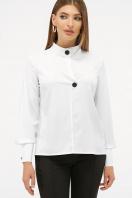 белая блузка с воротником стойка. блуза Фиби д/р. Цвет: белый в интернет-магазине