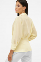 белая блузка на пуговицах. блуза Риона 3/4. Цвет: ваниль цена