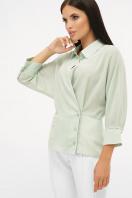 белая блузка на пуговицах. блуза Риона 3/4. Цвет: оливковый купить