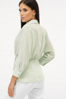 белая блузка на пуговицах. блуза Риона 3/4. Цвет: оливковый цена