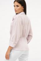 белая блузка на пуговицах. блуза Риона 3/4. Цвет: лавандовый цена