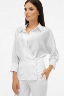 белая блузка на пуговицах. блуза Риона 3/4. Цвет: белый купить