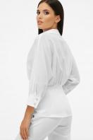 белая блузка на пуговицах. блуза Риона 3/4. Цвет: белый цена