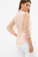 голубая прозрачная блузка. блуза Ладонна 3/4. Цвет: персик цена