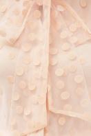 голубая прозрачная блузка. блуза Ладонна 3/4. Цвет: персик в интернет-магазине