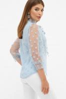 голубая прозрачная блузка. блуза Ладонна 3/4. Цвет: голубой цена