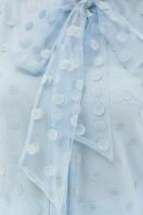 голубая прозрачная блузка. блуза Ладонна 3/4. Цвет: голубой в интернет-магазине