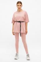 облегающие женские лосины. легинсы Хизер. Цвет: розовый в интернет-магазине