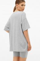 синяя удлиненная футболка. футболка Хизер. Цвет: серый меланж недорого