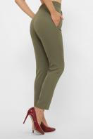 лиловые брюки 7/8. брюки Бенжи 1. Цвет: хаки цена