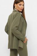женский пиджак хаки. пиджак Патрик 2. Цвет: хаки в интернет-магазине