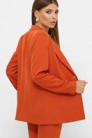 женский пиджак хаки. пиджак Патрик 2. Цвет: терракот в интернет-магазине
