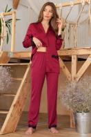 . рубашка Долорес д/р. Цвет: бордо цена