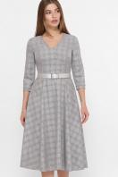 . платье Киана д/р. Цвет: клетка серый-розовый купить