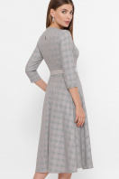 . платье Киана д/р. Цвет: клетка серый-розовый цена