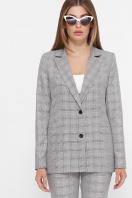 . пиджак Патрик К. Цвет: серый-розовая клетка в интернет-магазине