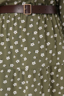 . платье Мэдисон 3/4. Цвет: хаки-белый м.цветок в интернет-магазине