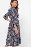 . платье Мэдисон 3/4. Цвет: синий-м. цветы цена