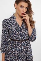 . платье Мэдисон 3/4. Цвет: синий-м. цветы в интернет-магазине